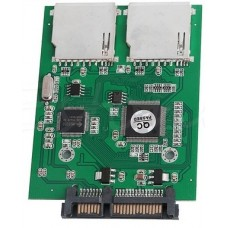 2 Port Dual SD SDHC MMC RAID to SATA Converter